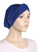Royal Blue Criss Cross Turban Hat
