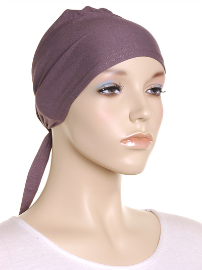Medium Taupe Plain Tie Back Bonnet - Hijab Store Online