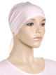 Peach Blush Plain Tie Back Bonnet