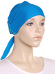 Peacock Blue Plain Tie Back Bonnet - Hijab Store Online