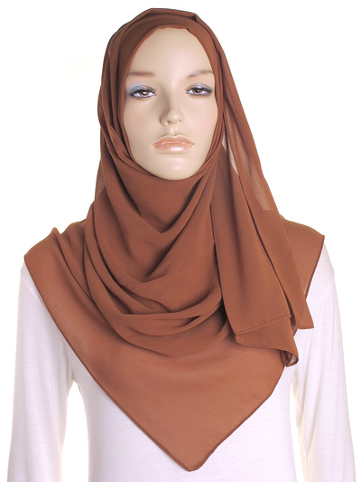 Burnt Orange Chiffon Hijab - Hijab Store Online
