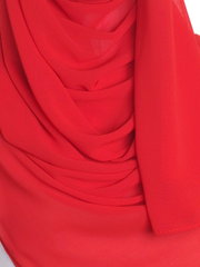 Confident Red Chiffon Hijab