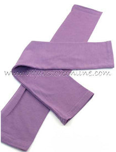 Plum Full Length Cotton Arm Sleeves
