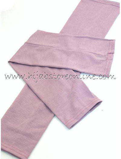 Mauve Full Length Cotton Arm Sleeves - Hijab Store Online