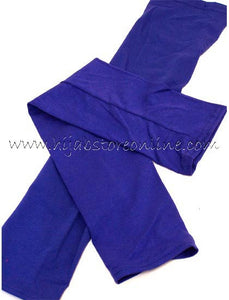 Royal Blue Full Length Cotton Arm Sleeves