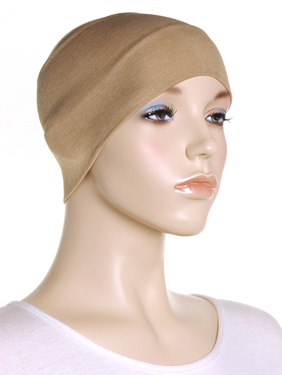 Beige Wide Plain Headband
