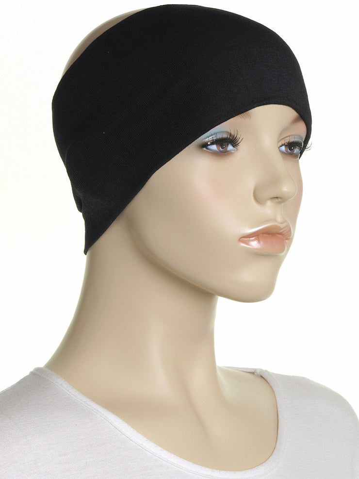 Black Wide Plain Headband - Hijab Store Online