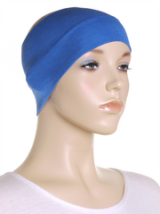 Blue Wide Plain Headband