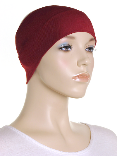 Maroon Wide Plain Headband