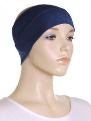 Navy Wide Plain Headband