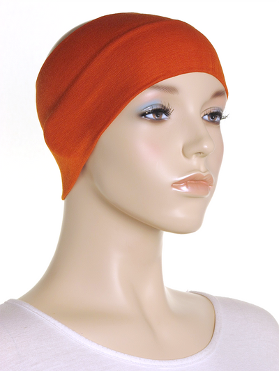 Orange Wide Plain Headband