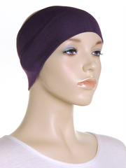 Purple Wide Plain Headband
