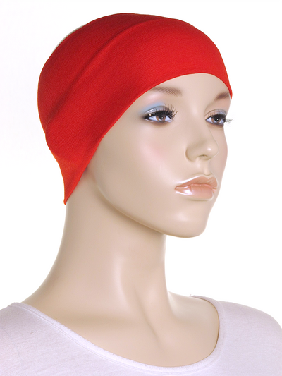 Red Wide Plain Headband