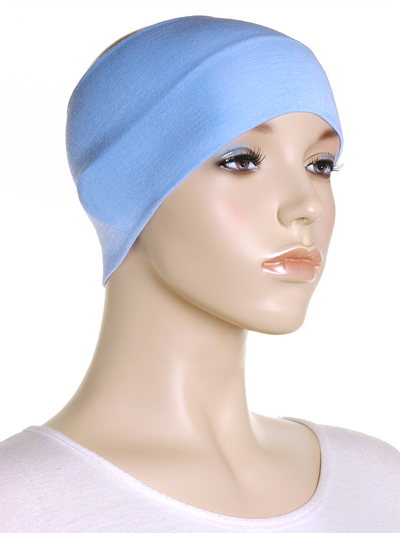 Sky Blue Wide Plain Headband