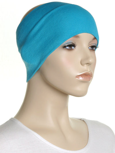 Turquoise Wide Plain Headband - Hijab Store Online