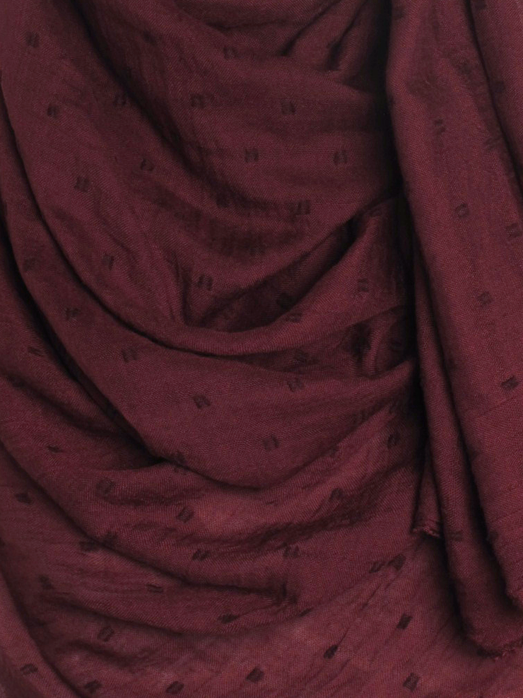 Burgundy Dotted Cotton Hijab - Hijab Store Online
