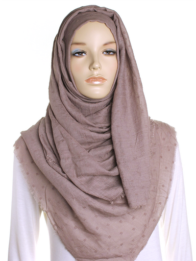 Desert Taupe Dotted Cotton Hijab
