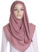 Dusty Mauve Dotted Cotton Hijab