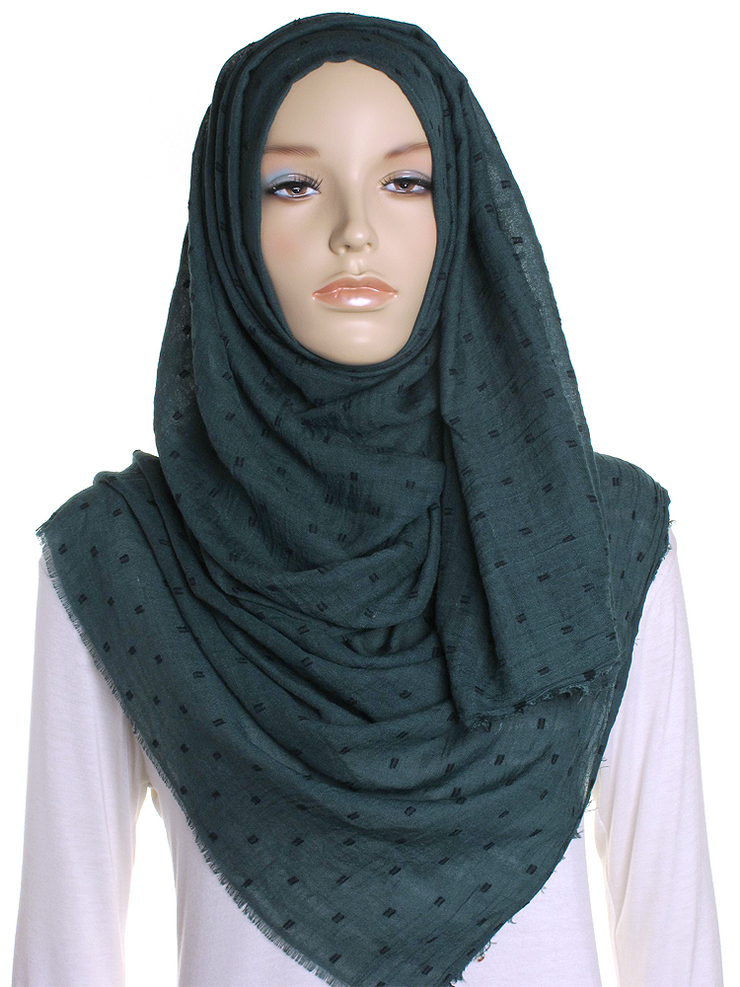 Forest Dotted Cotton Hijab