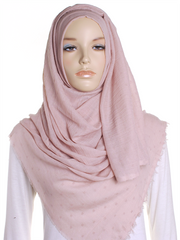 Natural Blush Dotted Cotton Hijab - Hijab Store Online