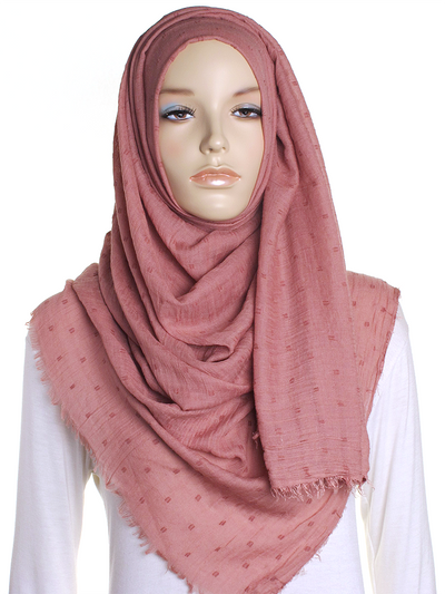 Rose Blush Dotted Cotton Hijab - Hijab Store Online