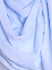 Sky Blue Dotted Cotton Hijab - Hijab Store Online