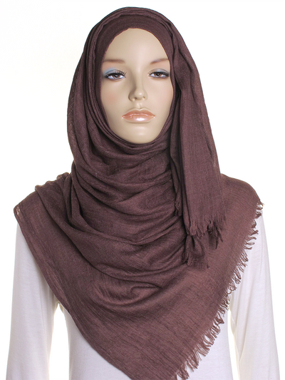 Brown Extra Large Hijab - Hijab Store Online