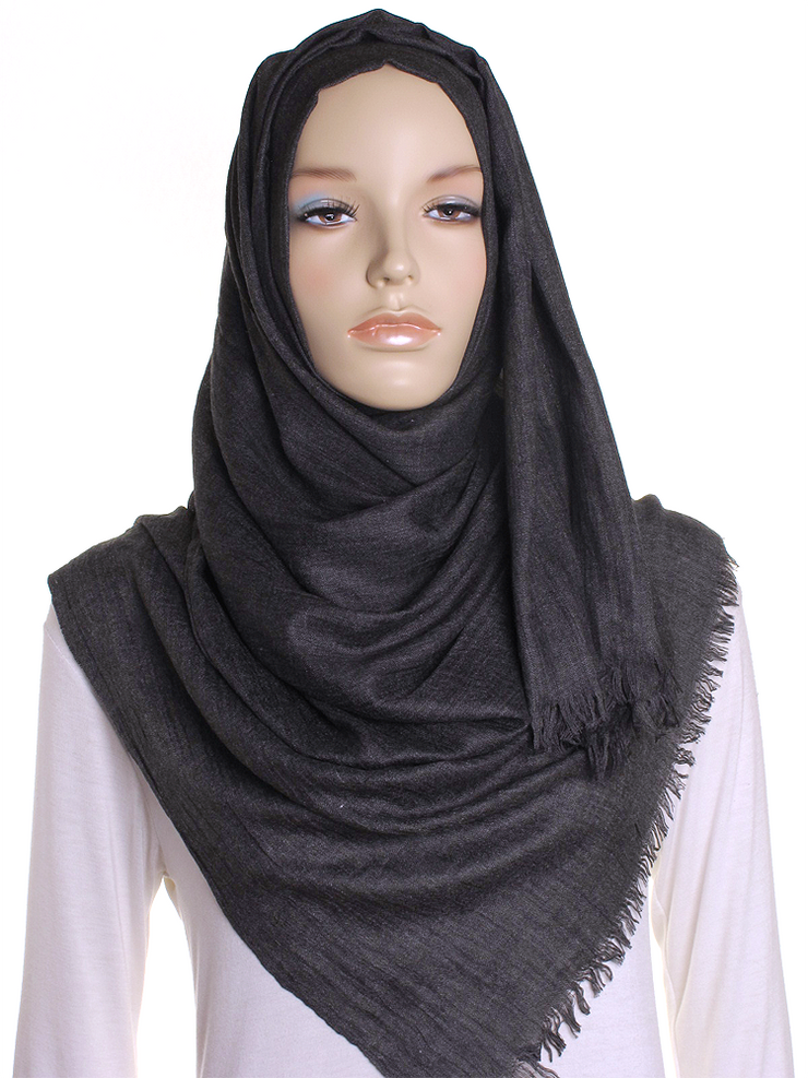Charcoal Extra Large Hijab - Hijab Store Online