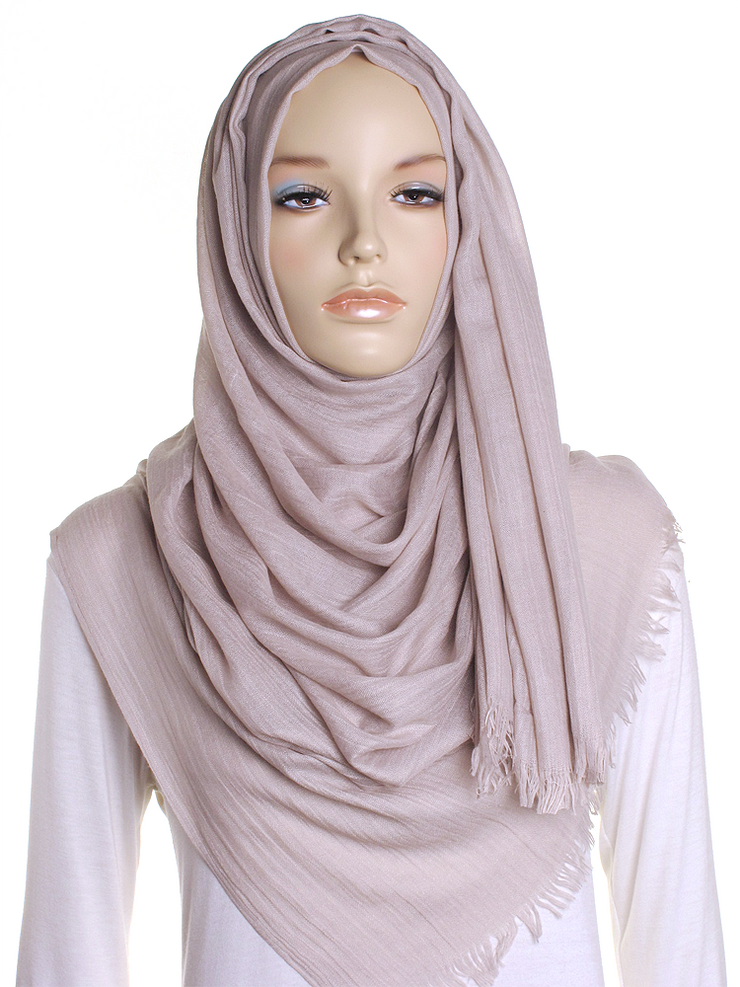 Light Taupe Extra Large Hijab - Hijab Store Online