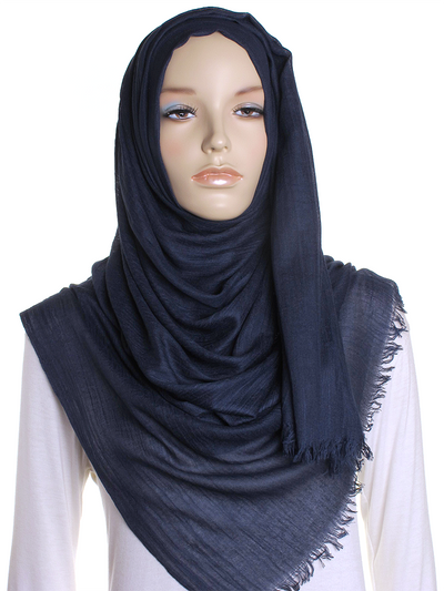 Navy Extra Large Hijab - Hijab Store Online