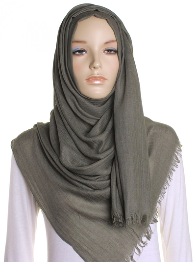 Olive Extra Large Hijab - Hijab Store Online