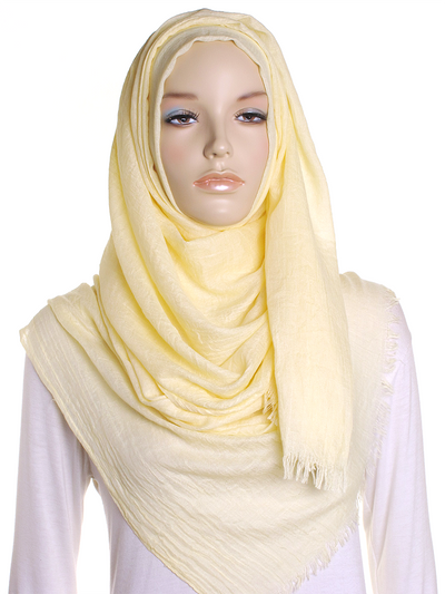 Pastel Yellow Extra Large Hijab - Hijab Store Online
