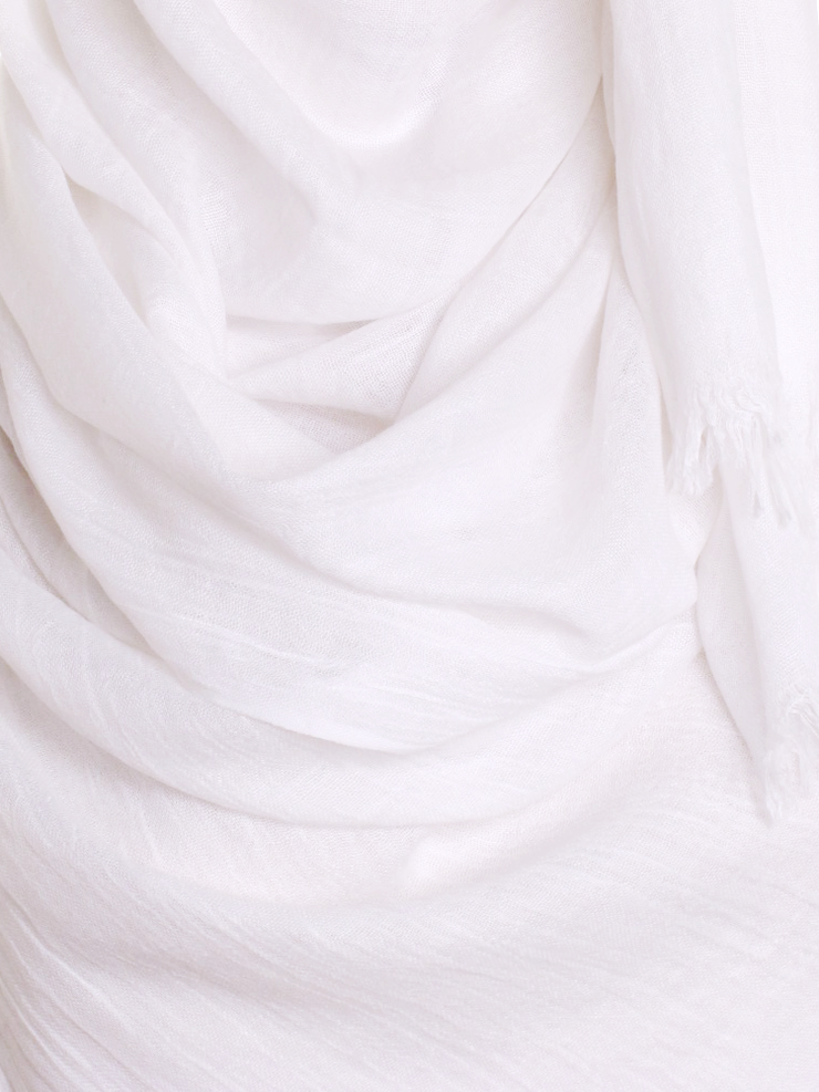 White Extra Large Hijab - Hijab Store Online