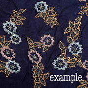 Green Floral Embroidered Hijab - Hijab Store Online