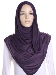 Arabian Purple Plain Jersey Hijab