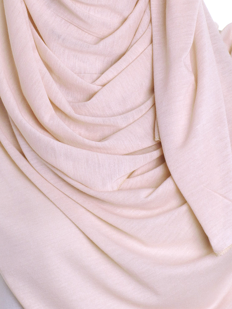 Blush Plain Jersey Hijab