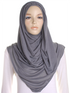 Grey Plain Jersey Hijab