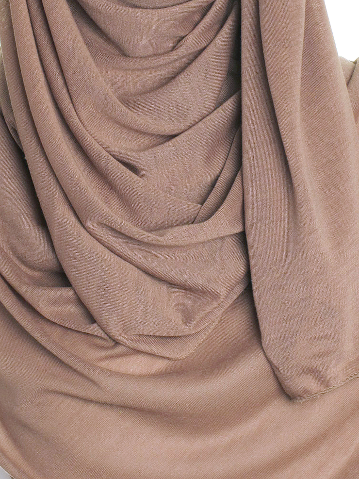 Hazel Brown Plain Jersey Hijab