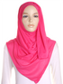 Hot Pink Plain Jersey Hijab