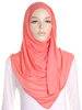 Light Coral Plain Jersey Hijab