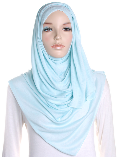Light Mint Plain Jersey Hijab