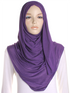 Purple Plain Jersey Hijab