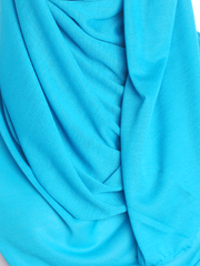 Turquoise Plain Jersey Hijab - Hijab Store Online