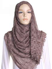 Brown Marl Hijab