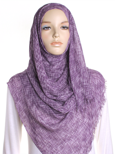 Purple Marl Hijab