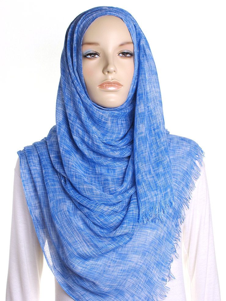 Royal Blue Marl Hijab