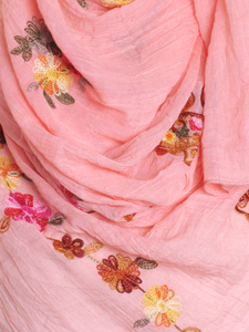 Apricot Cotton Embroidery Hijab