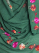 Green Cotton Embroidery Hijab - Hijab Store Online