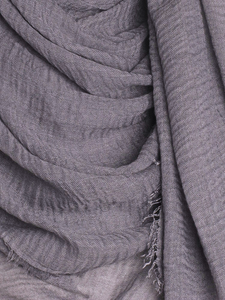 Anchor Grey Plain Crinkle Maxi Hijab - Hijab Store Online