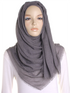 Anchor Grey Plain Crinkle Maxi Hijab